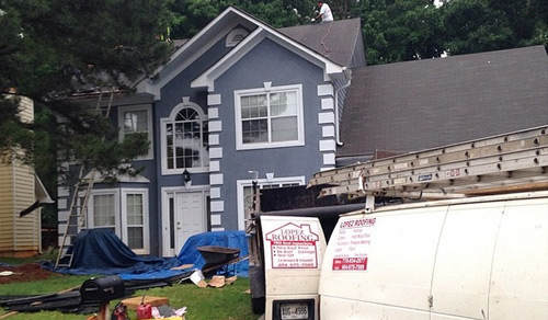 replacing roofing